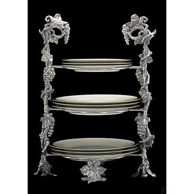 Arthur Court Grape Dinner Plate Caddy Beautifully Elegant Stand Alone Pc Wow!!