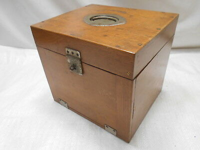Antique Wooden Medical Instrument Box Japanese Drawers Circa 1920s #723