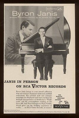 1957 Byron Janis photo RCA Victor Records vintage print ad