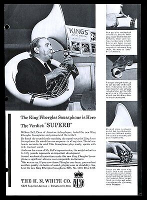 1963 White Sousaphone William Bell photo vintage print ad
