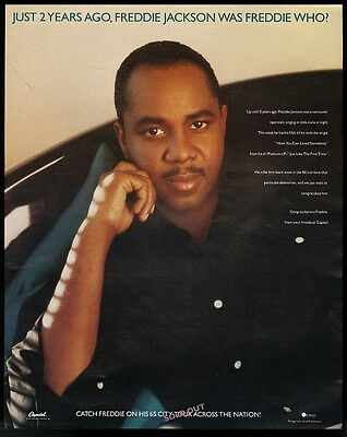1987 Freddie Jackson photo Have You Ever Loved Somebody trade print ad