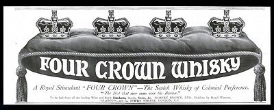 1913 Four Crown Scotch whisky vintage print ad