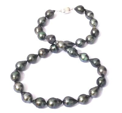 """Genuine AAA+ Luster Tahitian South Sea 30 pcs 10-15.3mm Pearl 18"""" Necklace"""