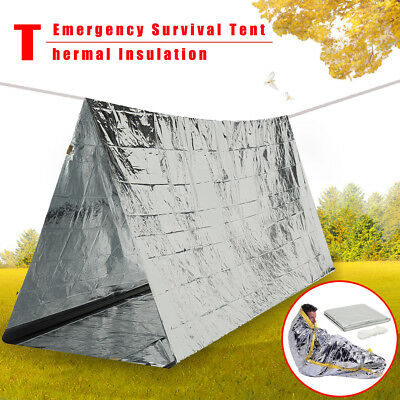 2 Persons Tube Emergency Survival Tent Hiking Camping Shelter Outdoor Portable