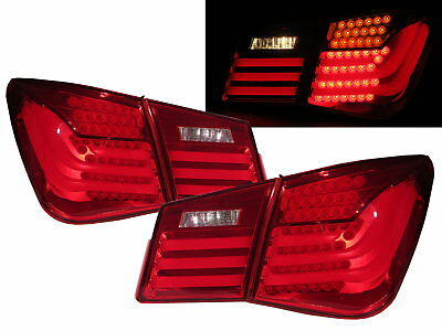 CRUZE J300 2008-2013 Sedan LED BMW Style Tail Rear Light Red/Clear for HOLDEN