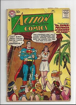 Action Comics #235 and #282 DC Comics 1957 & 1961 Fair missing centerfolds