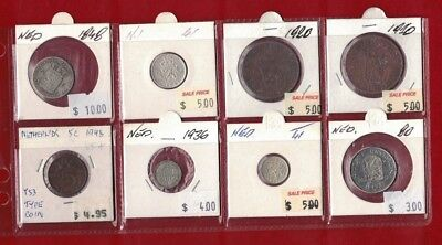 1848 to 1980 Netherlands 8 coins clearance