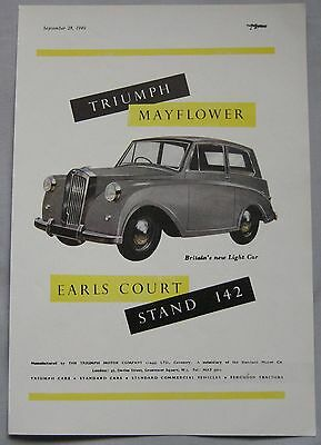 1949 Triumph Mayflower Original advert No.1