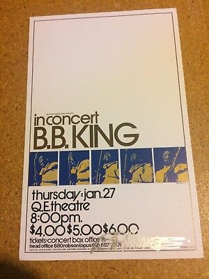 BB King Show Concert Poster 1972 Signed 60s art icon Bob Masse 2nd Print