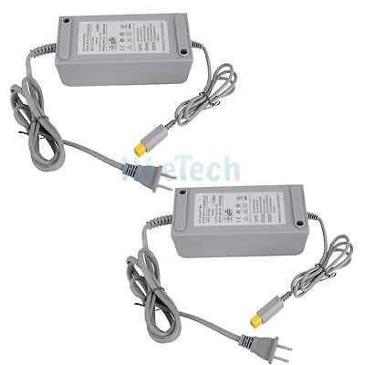 2X AC Home Wall Power Supply Adapter Cord Cable for Wii U Console System US Plug