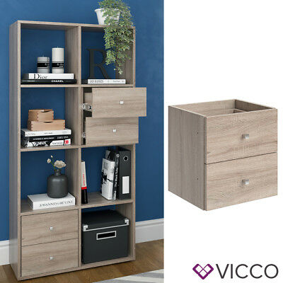 eiche bcherregal vicco scutum sonoma eiche bcherregal wrfelregal raumteiler with eiche. Black Bedroom Furniture Sets. Home Design Ideas