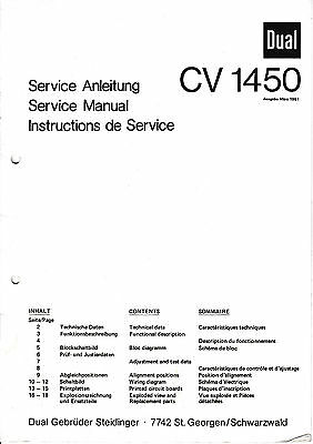 Tv, Video & Audio Service Manual-anleitung Für Dual 1008 A