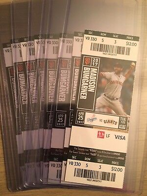 2017 SF Giants vs LA Dodgers Mint Ticket Stub 4/25/17 Cody Bellinger Debut Game!