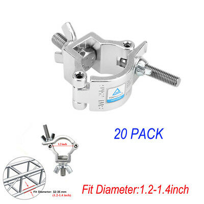 4 Pack Load 75kg O Clamp Hook Mount for Stage Light Equipment Pipe 32-35mm