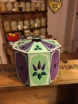 Vintage Edward Sharp & Sons Toffee / Confectionary Tin – Purple & Green – Retro!