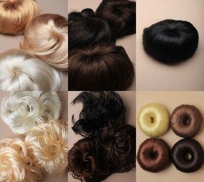 Pack Of Imitation Hair Scrunchies, Bun Rings, Hair Buns, Accessories