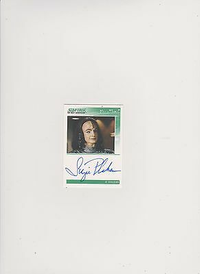 Star Trek Tng Quotable  Autograph Card Suzie Plakson/k'ehleyr