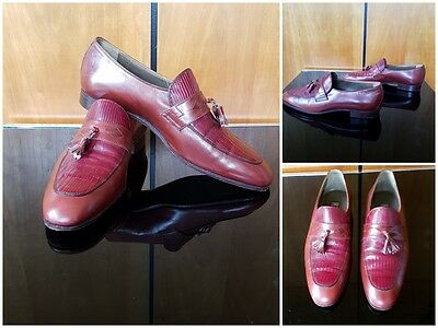 Vintage Campanile Vero Cuoio Leather Handmade in Italy Mens Shoes Loafers UK 7