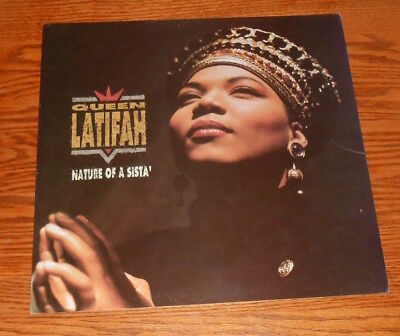 Queen Latifah Nature of a Sista' Poster 2-Sided Flat Square Promo 12x12 RARE