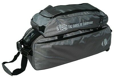 Vise 3 Ball Tote Bowling Bag with shoe pocket GREY