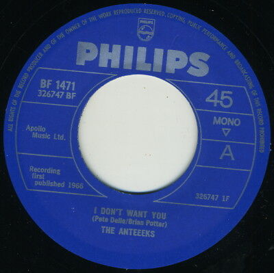 ANTEEEKS - I Don't Want You / Ball  And Chain COOL '66 UK BEAT / GARAGE 2-SIDER!