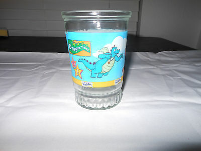 Welch's Drinking Glass Tall Dragon Tales Vintage 4""