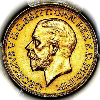 1932 SA King George V South Africa Pretoria Mint Gold Sovereign PCGS MS63