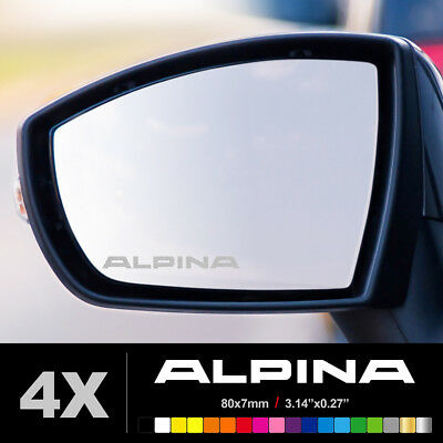 BMW ALPINA Wing Mirror Glass Silver Frosted Etched Car Vinyl Decal Stickers