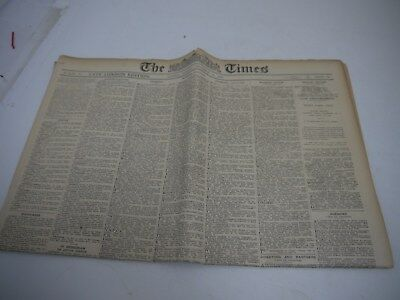 The Times Newspaper dated 12 November 1929 & Certificate of Authenticity (SLD8