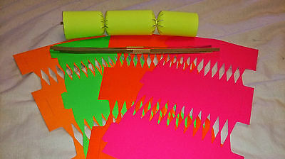 10 x  Diy Party/Christmas Crackers various fluorescent colours (stand out)