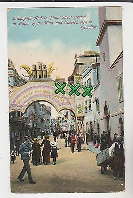 Postcard - Gibraltar - Triumphal Arch In Main St - In Honor Of The King & Queen