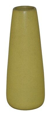 Marblehead Pottery Matte Yellow Cylindrical Arts and Crafts Vase