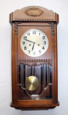 Antique Wall Clock Chime Clock  Regulator 1920th*JUNGHANS*