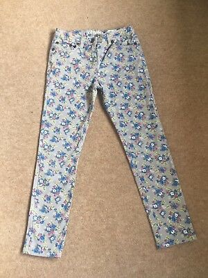 Girls Johnnie B (Mini Boden) Floral Skinny Jeans  Age 9 - 10 Years (24 R)