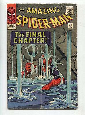 1965 Marvel The Amazing Spider-Man #33 Classic Ditko Cover Art Very Good