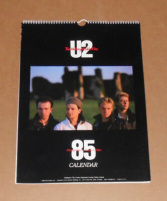 U2 The Unforgettable Fire 1985 Calendar Poster Original 17x12