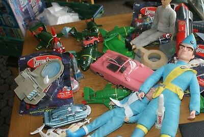 Thunderbirds captains scarlet vintage toys