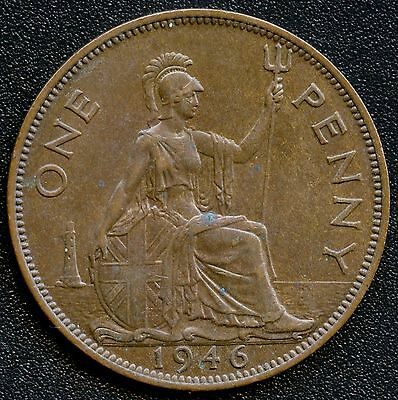 1946 Great Britain 1 Penny Coin