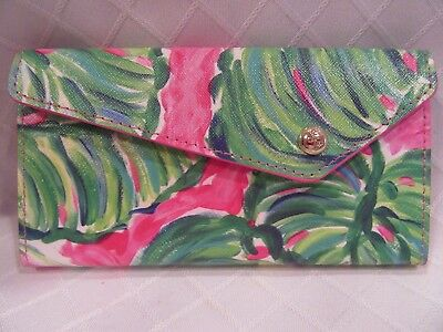 "Lilly Pulitzer ""Painted Palms"" Foldable Sunglass Case New"