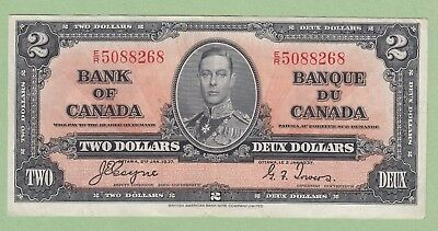 1937 Bank of Canada 2 Dollar Note - Coyne/Towers - E/R5088268 - EF