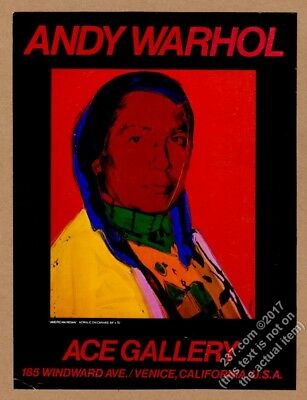 1979 Andy Warhol Native American Indian art CA gallery show vintage print ad