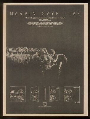1974 Marvin Gaye photo Live album release print ad