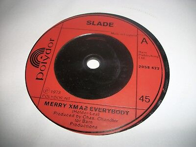 "SLADE- MERRY XMAS EVERYBODY- VINYL 7"" 45RPM p"
