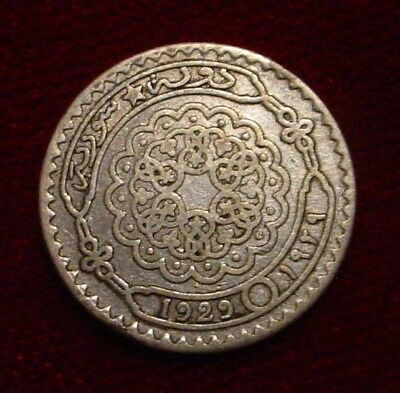 **scarce**1929 Silver 10 Piastres Arab Kingdom Of Syria**nice Detailed Coin**