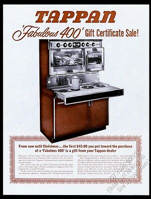 1963 Tappan Fabulous 400 double oven pull-out cooktop range photo vintage ad