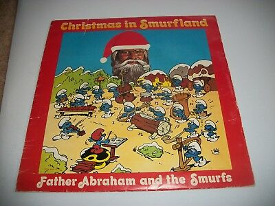 "The Smurfs- Christmas In Smurfland Vinyl 7"" 45Rpm Ps"