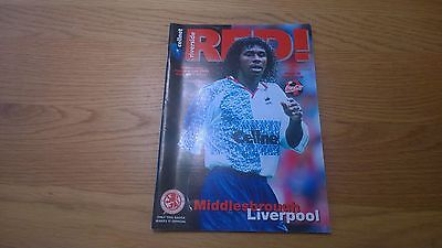 1996-97 Middlesbrough v Liverpool - League Cup