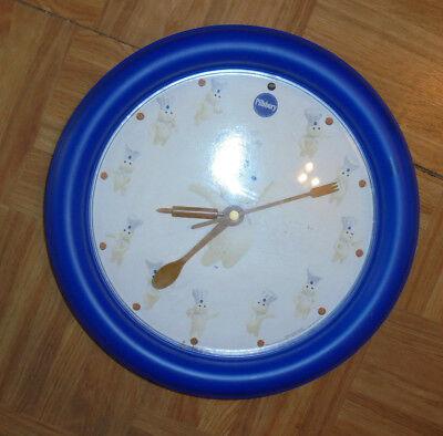 Pillsbury doughboy talking wall clock giggles every hour  spoon fork rolling pin