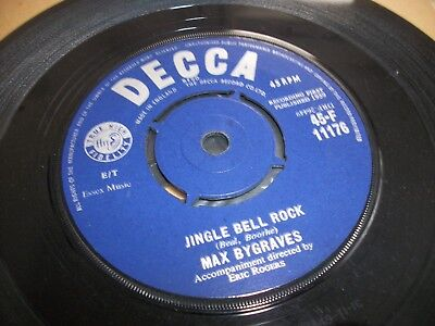 "MAX BYGRAVES- JINGLE BELL ROCK VINYL 7"" 45RPM p"