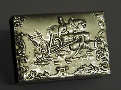 An Exquisite Antique Dutch Solid Silver Match Box Holder